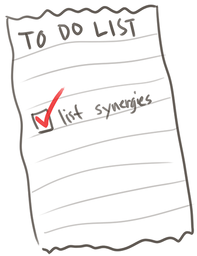 list synergies