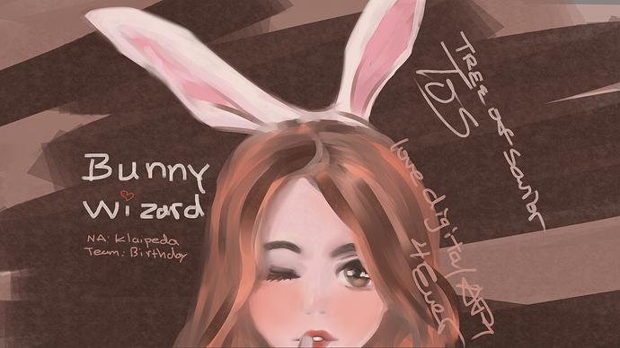TOS Bunny Wizard Horizontal Cut