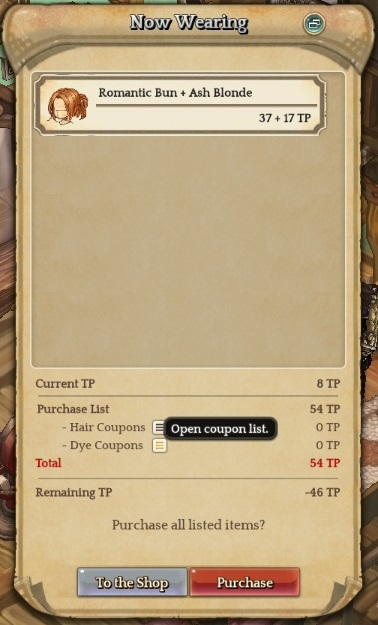 Pp Shop S Hair Dye Voucher Not Working When Trying To Purchase Hair Dye From Beauty Shop Game Content Tree Of Savior Forum