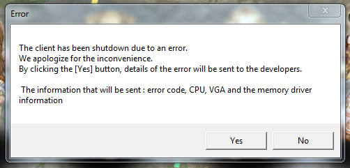 What is this? cpu, vga, memory driver information WTF - Gameplay Bug