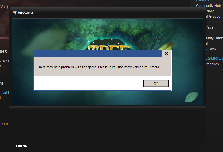 Can't even launch the game: