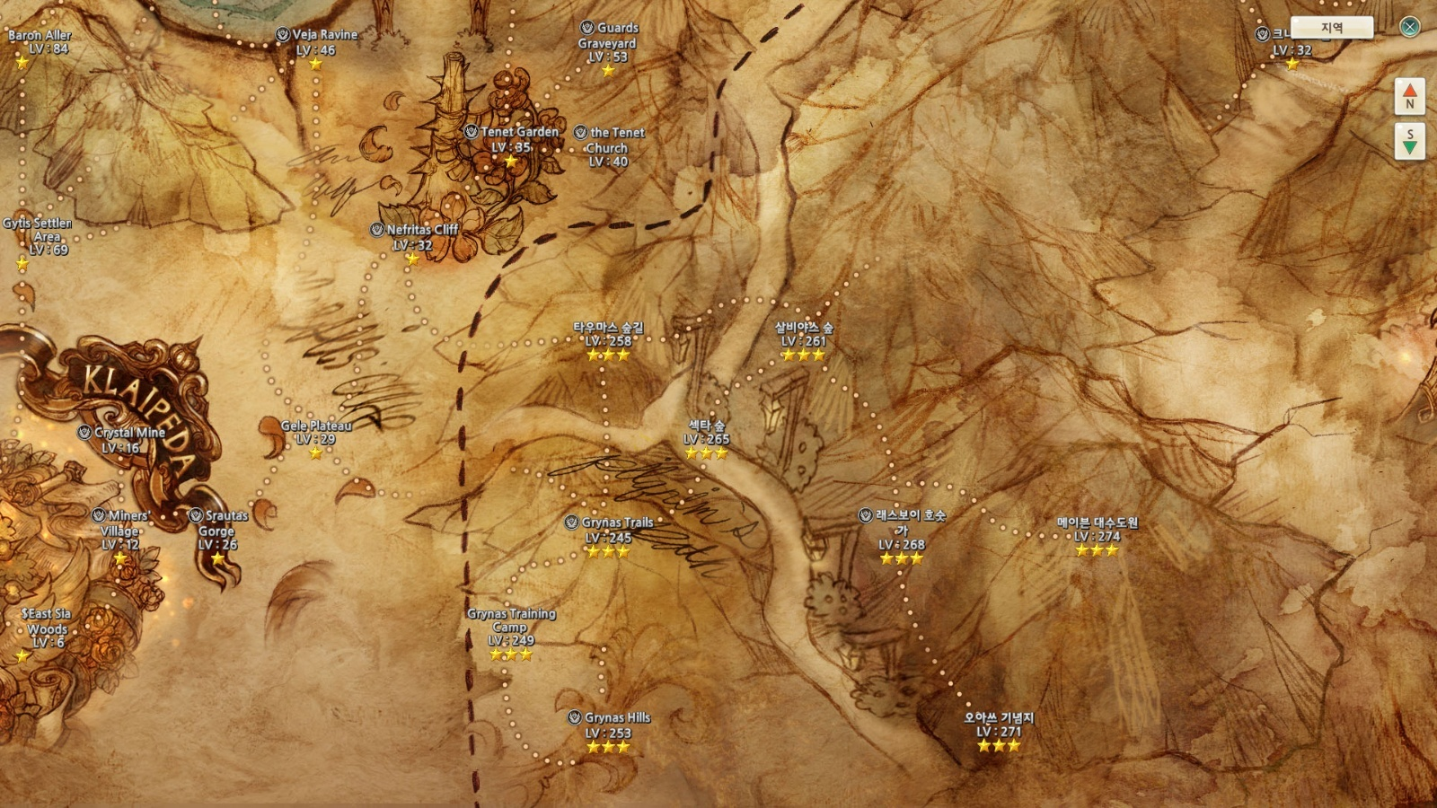 General KCBT Changes Summary General Discussion Tree Of Savior - Klaipėda map