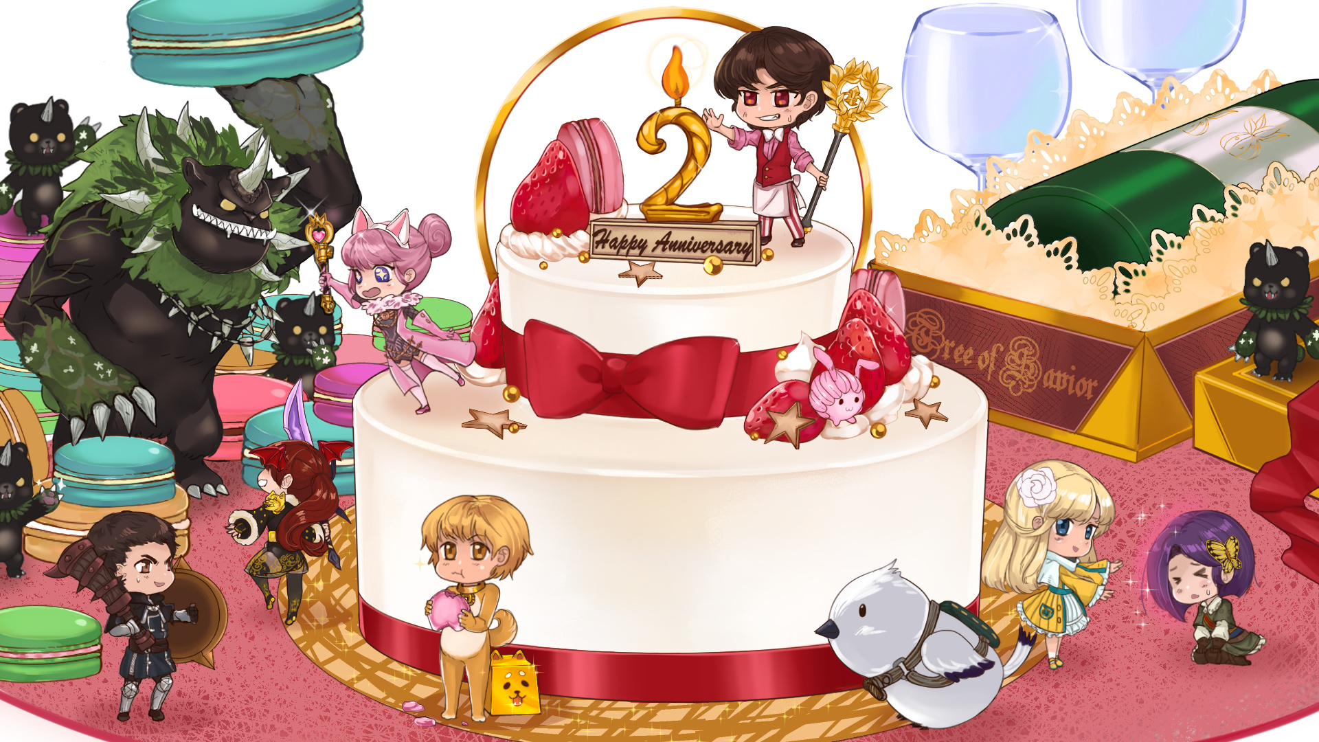Submitsweet 2nd Anniversary Cake Fan Art Tree Of Savior Forum
