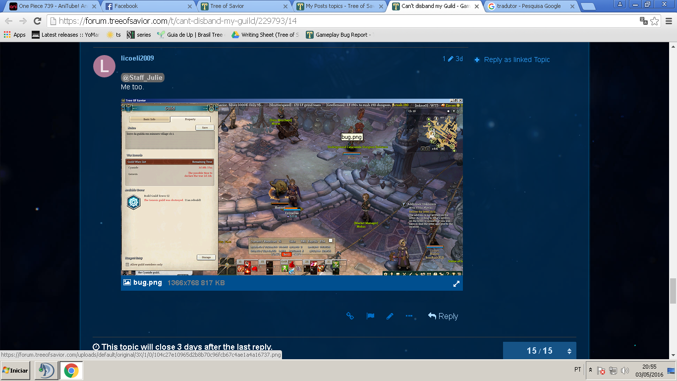 my account was not transferred gameplay bug report tree of savior