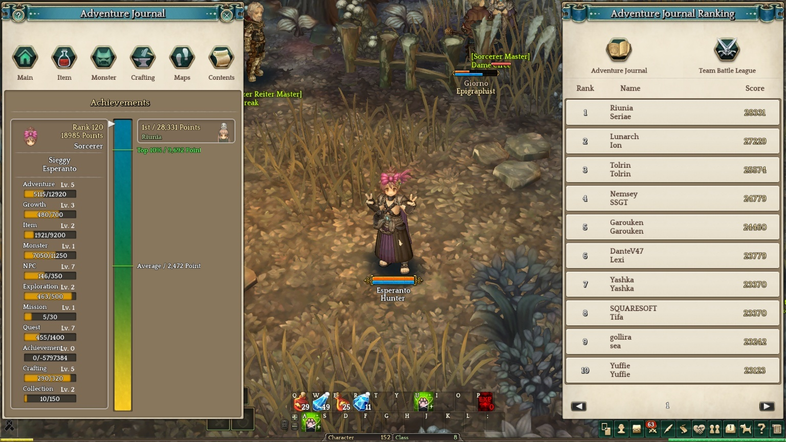 Sorcerer's Grimoire (Sorcerer skill guide) - Class and Rank